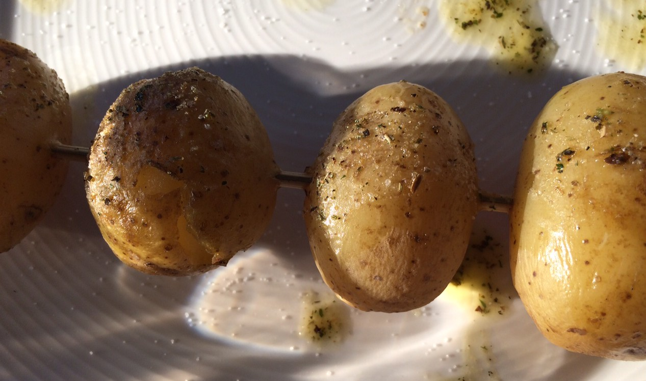 potatis på spett
