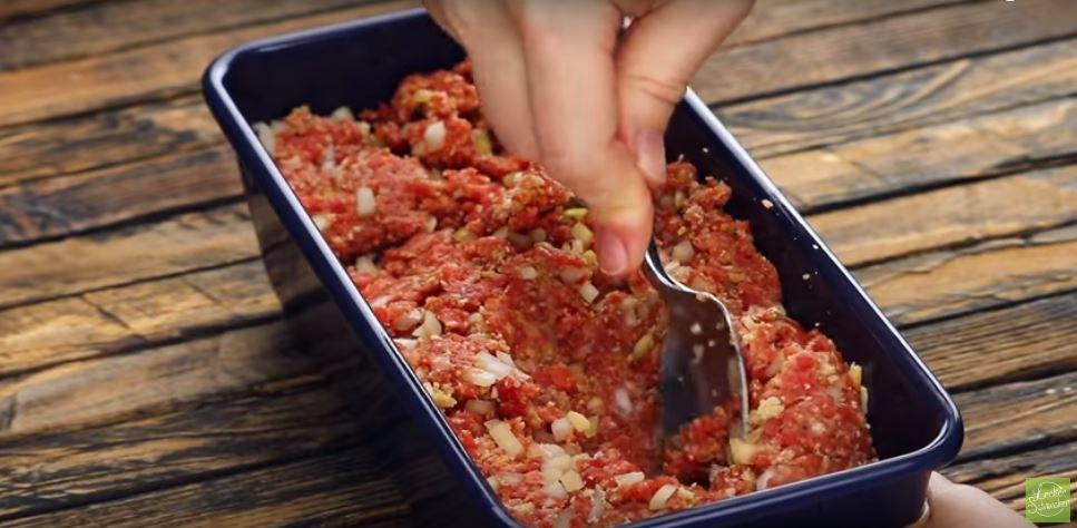 Köttfärslimpa på nytt sätt