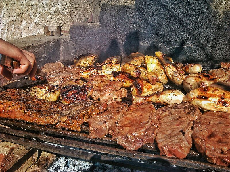 En traditionell argentinsk asado